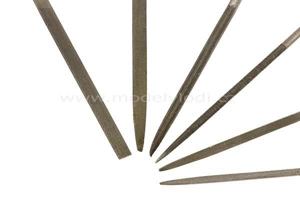Sada jehlových pilníků s rukojetí (6 ks)