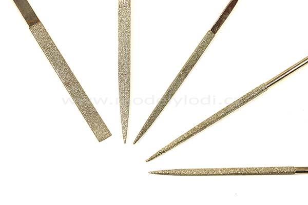 Sada diamantových pilníků (5 ks)