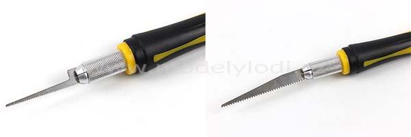 Modelářský nůž s pilkou