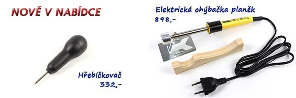 Hřebíčkovač a elektrická ohýbačka planěk
