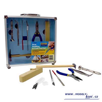 Základní nářadí pro stavbu dřevěných modelů lodí